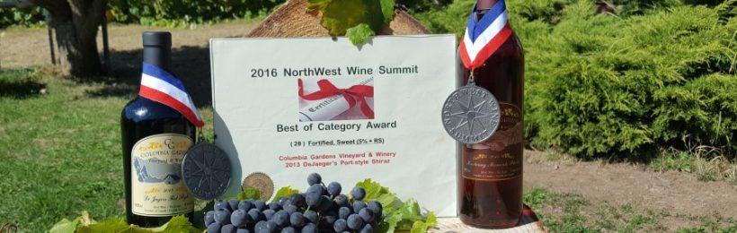 Columbia Gardens Winery Wins 3 International Wine Awards at 2016 Northwest Wine Summit