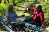 Ben and woman in vines picnic